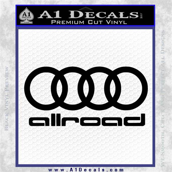 Audi Allroad Rings Decal Sticker » A1 Decals
