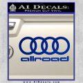 Audi Allroad Rings Decal Sticker Blue Vinyl 120x120