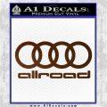 Audi Allroad Rings Decal Sticker Brown Vinyl 120x120