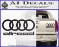 Audi Allroad Rings Decal Sticker Carbon Fiber Black 120x97