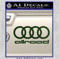 Audi Allroad Rings Decal Sticker Dark Green Vinyl 120x120