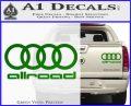 Audi Allroad Rings Decal Sticker Green Vinyl 120x97