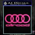 Audi Allroad Rings Decal Sticker Hot Pink Vinyl 120x120