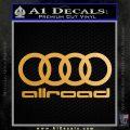 Audi Allroad Rings Decal Sticker Metallic Gold Vinyl 120x120