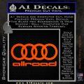 Audi Allroad Rings Decal Sticker Orange Vinyl Emblem 120x120