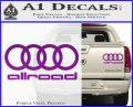 Audi Allroad Rings Decal Sticker Purple Vinyl 120x97