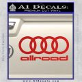 Audi Allroad Rings Decal Sticker Red Vinyl 120x120