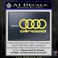 Audi Allroad Rings Decal Sticker Yelllow Vinyl 120x120