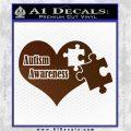 Autism Awareness Decal Sticker D9 Brown Vinyl 120x120
