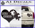 Autism Awareness Decal Sticker D9 Carbon Fiber Black 120x97