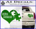 Autism Awareness Decal Sticker D9 Green Vinyl 120x97