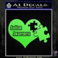 Autism Awareness Decal Sticker D9 Lime Green Vinyl 120x120