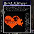 Autism Awareness Decal Sticker D9 Orange Vinyl Emblem 120x120