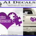 Autism Awareness Decal Sticker D9 Purple Vinyl 120x120