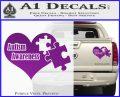 Autism Awareness Decal Sticker D9 Purple Vinyl 120x97