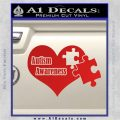 Autism Awareness Decal Sticker D9 Red Vinyl 120x120