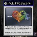 Autism Awareness Decal Sticker D9 Sparkle Glitter Vinyl 120x120