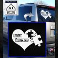 Autism Awareness Decal Sticker D9 White Emblem 120x120