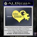 Autism Awareness Decal Sticker D9 Yelllow Vinyl 120x120