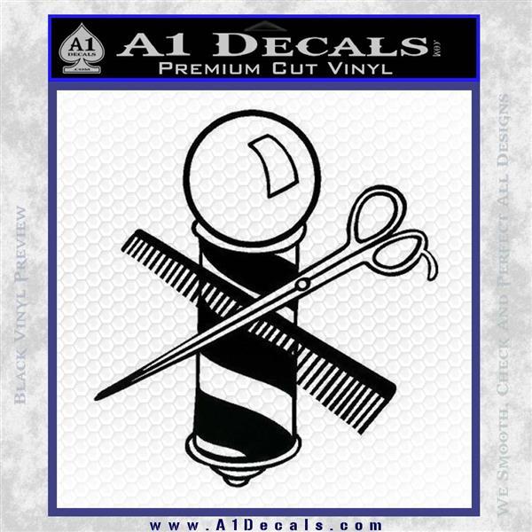 barber pole amp scissors decal sticker v1 187 a1 decals