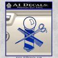 BARBER POLE SCISSORS WINDOW VINYL DECAL STICKER Blue Vinyl 120x120