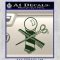 BARBER POLE SCISSORS WINDOW VINYL DECAL STICKER Dark Green Vinyl 120x120