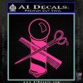 BARBER POLE SCISSORS WINDOW VINYL DECAL STICKER Hot Pink Vinyl 120x120