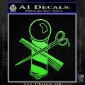 BARBER POLE SCISSORS WINDOW VINYL DECAL STICKER Lime Green Vinyl 120x120
