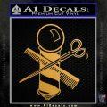 BARBER POLE SCISSORS WINDOW VINYL DECAL STICKER Metallic Gold Vinyl 120x120