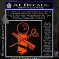 BARBER POLE SCISSORS WINDOW VINYL DECAL STICKER Orange Vinyl Emblem 120x120