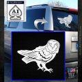BARN OWL WINDOW VINYL DECAL STICKER White Emblem 120x120