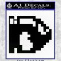 BULLET BILL 8BIT SUPER MARIO BROS KART VINYL DECAL STICKER Black Logo Emblem 120x120