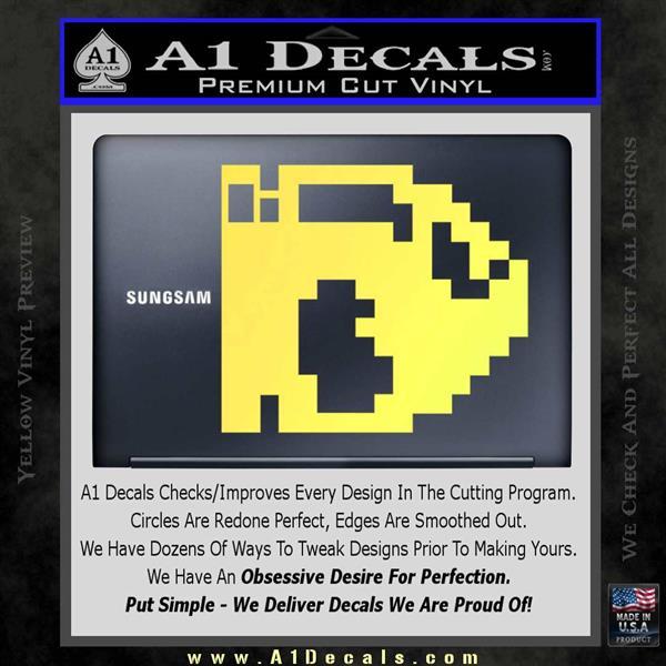 Bullet Bill 8-Bit Super Mario Decal Sticker » A1 Decals
