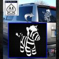 Baby Zebra Decal Sticker Cute White Emblem 120x120