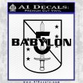 Babylon 5 Shield Title Logo Decal Siicker Black Logo Emblem 120x120