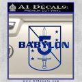 Babylon 5 Shield Title Logo Decal Siicker Blue Vinyl 120x120