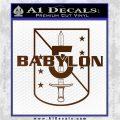 Babylon 5 Shield Title Logo Decal Siicker Brown Vinyl 120x120