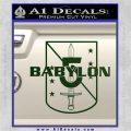 Babylon 5 Shield Title Logo Decal Siicker Dark Green Vinyl 120x120