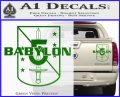 Babylon 5 Shield Title Logo Decal Siicker Green Vinyl 120x97