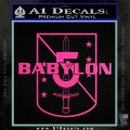 Babylon 5 Shield Title Logo Decal Siicker Hot Pink Vinyl 120x120