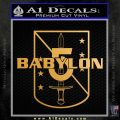 Babylon 5 Shield Title Logo Decal Siicker Metallic Gold Vinyl 120x120
