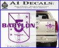 Babylon 5 Shield Title Logo Decal Siicker Purple Vinyl 120x97