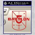 Babylon 5 Shield Title Logo Decal Siicker Red Vinyl 120x120