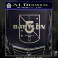 Babylon 5 Shield Title Logo Decal Siicker Silver Vinyl 120x120