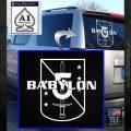 Babylon 5 Shield Title Logo Decal Siicker White Emblem 120x120