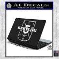 Babylon 5 Shield Title Logo Decal Siicker White Vinyl Laptop 120x120