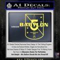 Babylon 5 Shield Title Logo Decal Siicker Yelllow Vinyl 120x120