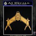 Babylon 5 Spaceship Omega Decal Siicker Metallic Gold Vinyl 120x120