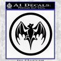 Bacardi Bat CR Decal Sticker Black Logo Emblem 120x120