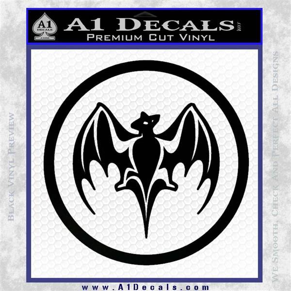 Bacardi Bat CR Decal Sticker Black Logo Emblem